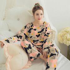 b314df19f07 Womens Ladies Pyjamas Pyjama PJs Winter Nightwear Set Cute Heart Printed S