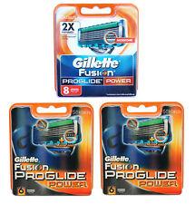 20x Gillette Fusion ProGlide Power Gilete Gillete 2x 6 + 8er Pack razor blades