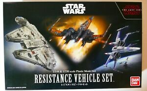 Star Wars Bandai The Last Jedi 1/144 1/350 RESISTANCE VEHICLE SET Model Kit NEW