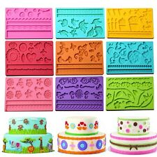 3D Silicone Lace Mold Mat Sugar Craft Fondant Mould Cake Decorating Baking Tools