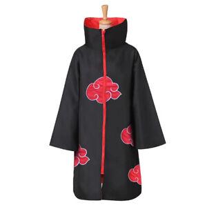 Naruto Akatsuki Anime Cosplay Coat Cloak Costumes For Kids Nice Applied
