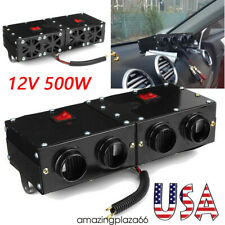 12V 500W 4Hole Car Universal Heater Fan Defogger Defroster Demister W/ Switch A+