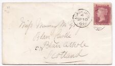 # 1861 LONDON TO MISS MURRAY McGREGOR BLAIR CASTLE SMALL CR TPO CALEDONIAN RLWY