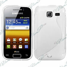 Accessory Cover Case Pattern S TPU Silicone White Samsung Wave Y S5380