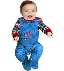 Baby Halloween Chucky Fancy Dress Costume Babies All in One Suit by Smiffys