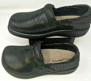 Daisy Nursing Shoe by Savvy, Women's, Color: Black/Silver