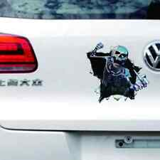 Smokey Skull Graphic Sticker Vinyl Wrap Decal Skeleton Waterproof Reflective New