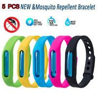 5Pcs Anti Mosquito Pest Bug Repellent Wrist Band Bracelet Insect Bangle Lock New