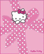 Fleecedecke Decke Plaid Hello Kitty Plumetis  130 x 160  cm