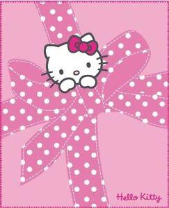Hello Kitty Kinderdecke Babydecke Fleecedecke Decke Plaid Plumetis 130 x 160  cm