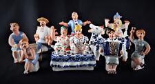 Russische Porzellanfigur Porzellan Feiertag 9 St.