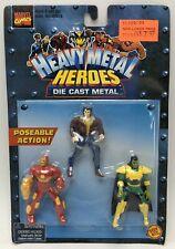 Marvel Heavy Metal Heroes Action Figures Die Cast Wolverine Iron Man Mandarin