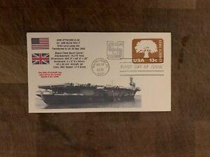 USA 1978 NAVY COVER USCS BOGUE ESCORT CARRIER HMS ATTACKER USS BURNS ACV-7