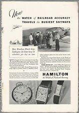 1932 HAMILTON WATCH advertisement, Ludington Air Lines