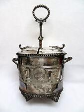 "Rare Antique Vintage Silver Plated Egg Warmer Coddler Holder  ""Stevenson"""