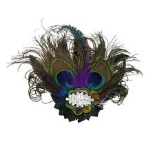 Vintage Pfauenfeder Haarspangen Fascinator Brosche Schmuck 1920s Party