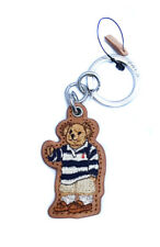 NEW Ralph Lauren Polo Bear Key Chain Brown Leather in Gift Box