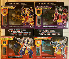 (4) New 2021 Retro Headmaster G1 Transformers!