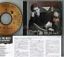 PAUL McCARTNEY All The Best JAPAN 24k GOLD CD TOCP-6117 w/INSERT, No OBI Free SH