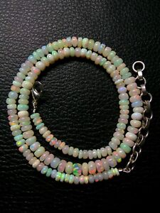 Natural Ethiopian Welo Opal Genuine Beads Necklace 67 Ct Size 4.5 To 6 mm S48