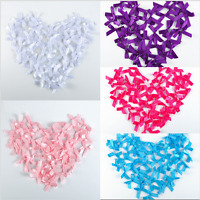 50PCS Cute Satin Ribbon Multi-Colors Flowers Bows DIY Craft Gift Wedding Decor