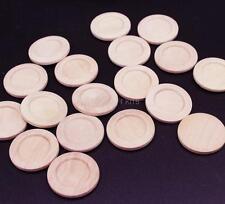 50pcs natural wood cabochons settings tray bezel blanks-new choice for pendant