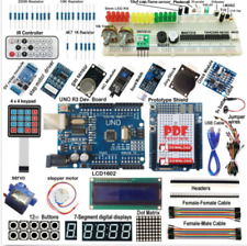 Ultimate UNO R3 Starter Kit for Arduino 1602LCD Servo Motor RTC HC-06 Bluetooth