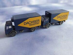 WIKING 1:160 Spur N  2 Stück Mercedes LKW Dachser Transport Vitrinenmodelle