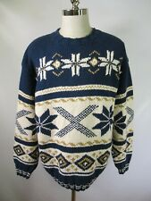 F5113 Men's Tommy Hilfiger Pull-Over Nordic Norwegian Sweater Size L