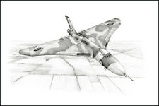RAF Avro Vulcan print signed by 11 aircrew inc 3 Black Buck Falkland veterans