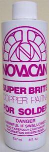 Novacan Super Brite Copper Patina for Solder - 8 oz.