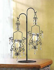 15 Crystal bead black chandelier Candle Holder Hanging stand Wedding centerpiece