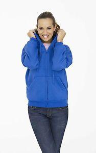 Ladies Full Zip Hooded Top (Hoodie) FREE EMBROIDERED DESIGN! Workwear Quality