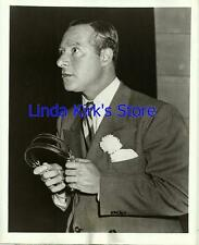 """George Jessel Promotional Photograph """"Holiday Star Revue"""" Holding Headphones"""