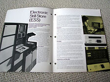Ampex, ESS electronic image storage system brochure