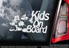 Kids On Board - Car Sticker - Mickey & Minnie Mouse - OPTION: Baby, Child, Kids