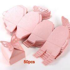 50Pcs Papillon Decoration Boite A Dragees Mariage Bapteme Decoration Naissa V3F2