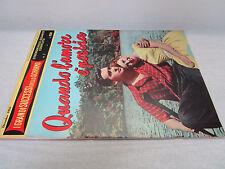 (BG58) CINEROMANZO GIGANTE COMPLETO-1956- QUANDO L'AMORE E' POESIA-SCOTT+GRAY