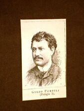 Deputato nel 1886 Onorevole Guido Pompilj o Pompili di Perugia