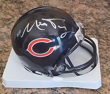 MITCH TRUBISKY 'CHICAGO BEARS' 2017 1ST RND DRAFT PICK SIGNED MINI-HELMET *COA 2