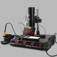YH-1000B 4 IN 1 SOLDERING IRON HOT AIR REWORK PREHEATING INFRARED BGA STATION UK