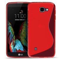 Handy Cover LG Bello 2 Silikon Hülle Case Schutz Slim Gummi Tasche Backcover Rot