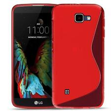 Phone Cover LG Bello 2 Silicone Case Case Slim Rubber Case Backcover Red