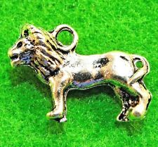 10Pcs. Tibetan Silver 3D LION Realistic Charms Pendants Earring Drops  AN074