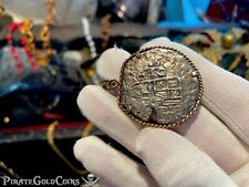 ATOCHA 1622 MEXICO 1620 DATED 4 REALES GRADE 1 FISHER PENDANT PIRATE GOLD COIN