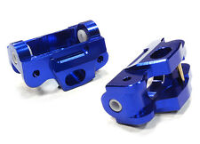 T5030BLUE Integy Billet Machined Caster Blocks for HPI 1/12 Savage XS Flux