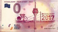 BILLET 0 ZERO EURO SCHEIN SOUVENIR DUSSELDORF TOUR START  2017-1