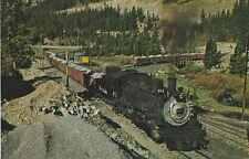 Rio Grande 481 Train Loading Limestone, Monarch, Co Postcard