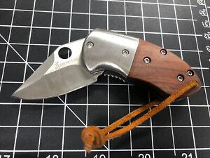 Vintage Browning Folding Knife! Mini Lock Back! Stainless Steel & Wood! Everyday