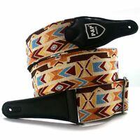 Real Cotton Guitar Strap Belt Adjustable Durable For Electric Acoustic Guitars
